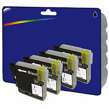 4 Black Compatible Printer Ink Cartridges for Brother MFC-J625DW [LC1280]