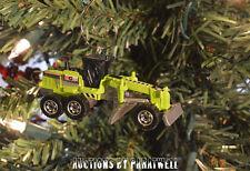 Custom Deluxe Construction Road Grader Dozer 1/64th Christmas Ornament CAT Deere