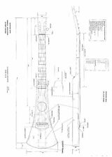 Martin Backpacker travel Guitar  Plans     GUITAR PLANS  - Full scale