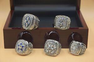 5pcs 1971 1977 1992 1993 1995 Dallas Cowboys Championship Ring !!