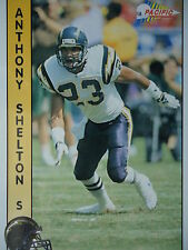 NFL 602 Anthony Shelton S Safety Pacific 1992
