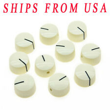 KAISH 10xVintage Barrel Guitar AMP Round Amplifier Knobs w/ Set Screw Aged White