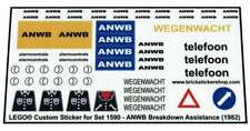 Lego® Custom Pre-Cut Sticker for Classic Town 1590 - ANWB Breakdown Assistance