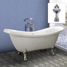 Luxury Freestanding Bath White Acrylic Double Ended Roll Top Slipper Bathtub 178