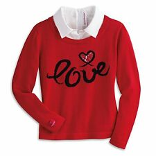 American Girl Doll Grace's Red City Sweater FOR GIRLS  Size X-Small 6