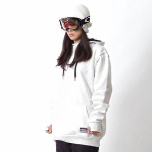 Ehoto SNOW & STREET UNISEX PLAIN HOODIE - WHITE