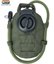 GREEN TACTICAL MOLLE AQUA BLADDER POUCH WITH 1.5 LITRE HYDRATION BLADDER