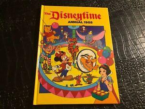 1988 ANNUAL -  hard cover book ( NOS ) DISNEY TIME