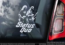 Status Quo - Vitre Voiture Autocollant - Groupe Dur Rock & Roll LP Sign - V02