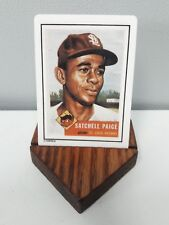 Satchell Paige St Louis Browns Porcelain Baseball Card w/ Base #220 - Topps