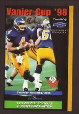 1998 Vanier Cup/Canadian College Football Schedule--Chevrolet Cavalier