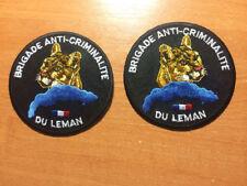 PATCH POLICE FRANCE  BAC  SWAT  DE LEMAN - 2 PAI5 PATCHES