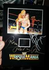 Hulk Hogan & Rowdy Roddy Piper Signed WWF WWE Wrestlemania 1 Film Mat W /COA