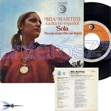 """MIA MARTINI canta in spagnolo """"SOLA"""" RARO 45giri SPAGNA"""