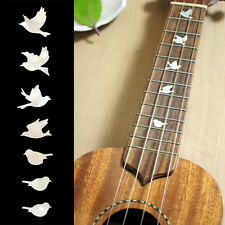 Dove ( White Pearl ) Fret Markers for UKULELE Inlay Sticker Decal