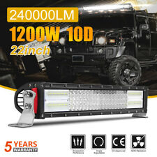 "10D 4 ROW CREE 22INCH 1200W LED Light Bar Flood Spot Offroad Fog Lamp 20"" 23"" 24"