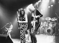 UFO PHOTO [MICHAEL SCHENKER] 1970`S TOUR  BLACK WHITE IMAGE HEAVY METAL ROCK GEM