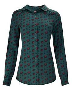 JOE BROWNS Animal Magic Green Blouse   UK 30   US 26    EUR 58    (FS106-4)