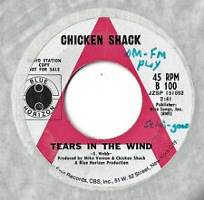 CHICKEN SHACK - TEARS IN THE WIND b/w THINGS YOU PUT.. - BLUE HORIZON - PROMO 45