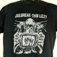 Thin Lizzy Red Alert Jailbreak Tshirt Mens XL Hard Rock Black 2010 Bay Island