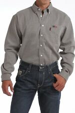 Cinch Men's FR WRX Long Sleeve Tan Geo Print Work Shirt  - WLW3002009