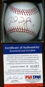 David Wright #5 Single Signed MLB Official Selig Baseball PSA Cert