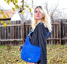 Baggallini Uptown Messenger Bag Nylon Crossbody Shoulder Bag Blue