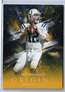 2018 Panini Origins Football Andrew Luck Gold Parallel 08/10 Indianapolis Colts