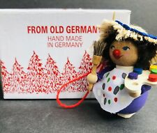 Steinbach Wooden Christmas Ornament~Girl Artist~Hand Made In Germany