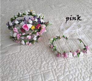 Babies pip berry head wreath head halo Flower Crown newborn Floral tieback 0-2yr