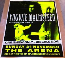 Huge YNGWIE MALMSTEEN 1999 Millenium World Tour Brisbane Poster!