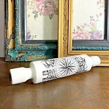 VINTAGE CERAMIC ROLLING PIN DECORATIVE THE MARINER'S COMPASS NAUTICAL THEME