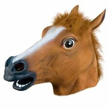 GnG Horse Head Mask Creepy Halloween Animal Costume zoo Theater Prop super hot