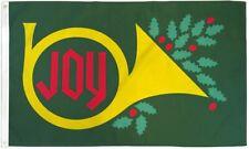 Christmas Joy Flag 3x5ft Holiday House Flag Seasonal Decor Flag French Horn