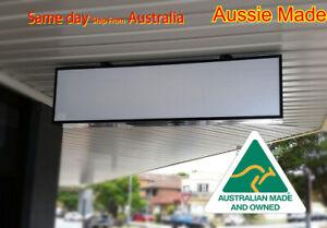 Shop lightbox sign, Awning Light Box, 180x60x15cm, 3row= 6lights & 2acrylics BLK