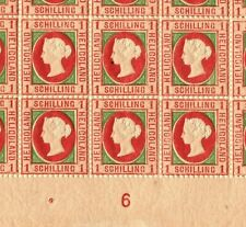 More details for heligoland qv stamps sg.8 1sch (iii) p13½x14½ (1871) sheet {50} c£8,000++* ep181