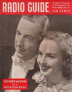 1939 Radio Guide- Spanish civil War radio; Bob Burns; Hal Kemp and Wife
