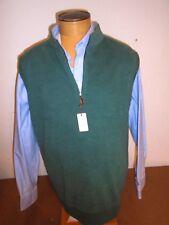 Peter Millar Mischung Baumwollvlies 1/4 Reißverschluss Pullover Top Nwt M Grün