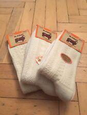 Turkish Pure Merino Wool UNPAINTED Women Winter Socks *Warmly* 3 Pairs Pack