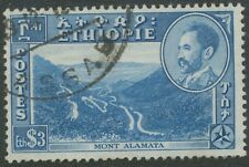 ETHIOPIA 1947 Landscapes and buildings, 3 $ Mount Alamata, superb used
