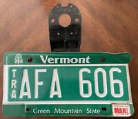 """Vintage Vermont Trailor 2005 License Plate ~ Green Mountain State Tag """"AFA 606"""""""