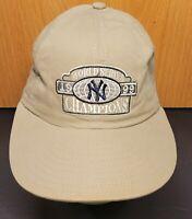 New York Yankees 1999 World Series Champs MLB Khaki / Beige Adjustable Dad Hat