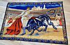 Vintage Spanish Bull Fighting Matador Coliseum Wall Art Tapestry 57X39 CC12