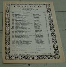 Fanfare For Christmas Day, Martin Shaw, 1922  OLD SHEET MUSIC