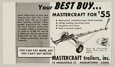 1955 Print Ad Mastercraft Boat Trailers Made in Middletown,CT