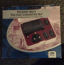 NIB Voltage Valet 50/2000 Watt Voltage Converter Kit Model VPAC, Autoswitching