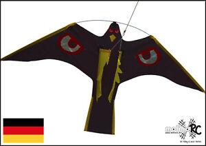 Vogelscheuche   Vogelschreck   Raubvogel   Drache   4 Meter Stange   Schutz BRD