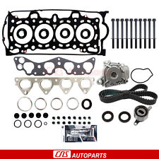 Head Gasket Set Timing Belt Water Pump Kit for 96-00 Honda Civic 1.6L D16Y5