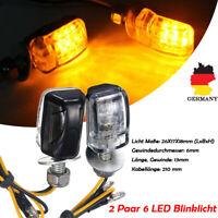 4x LED Motorrad Mini Blinker 12V Sequentiell Lauflicht E8 Prüfzeichen ATV DHL