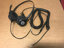 (Grade A) Plantronics HW261N 64339-31 Supra Plus Binaural Wired Headset W/ Cable